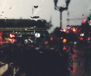 city, rain, and water image
