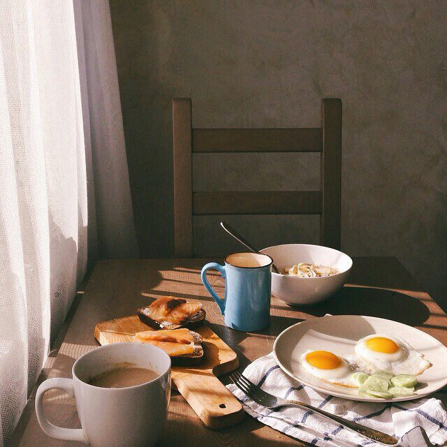 breakfast and morning image