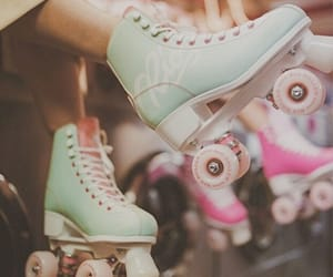 80s, roller skates, and pastel aesthetic image