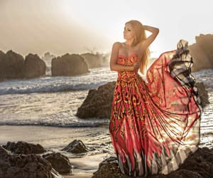 beach, dress, and spain image
