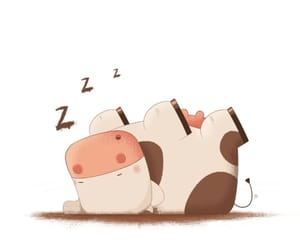 cartoon, cow, and cute image