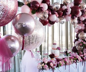 balloons, lush, and pink image