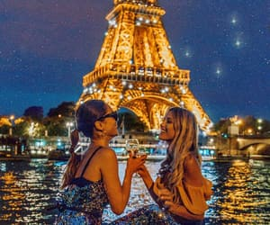 girls, paris, and friends image