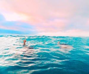 beach, free spirit, and ocean image