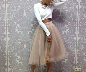 beige, skirt, and Blanc image