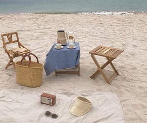 aesthetic, picnic, and beach image