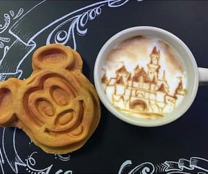 disney, food, and coffee image