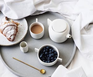 blueberry, cafe, and croissant image