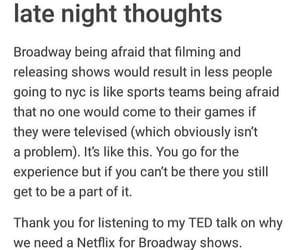 broadway, tumblr, and textpost image