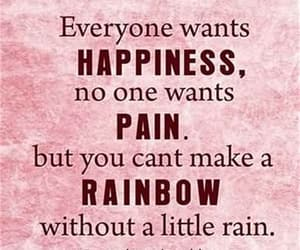 happiness, quotes, and rainbow image