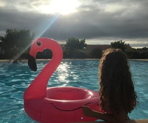 ete, bouée, and piscine image