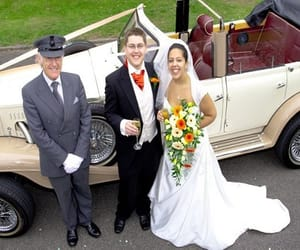wedding car hire, wedding car hire in uk, and classic car hire image