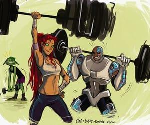 cyborg, teen titans, and beast boy image