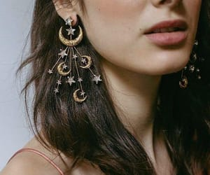 accessories, earrings, and moon image