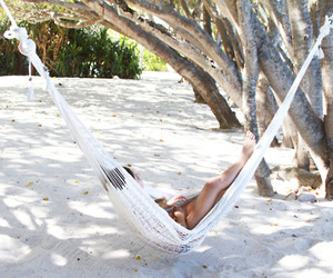 beach, summer, and relax image