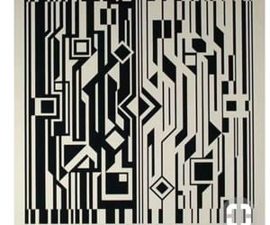 art, black, and pattern image