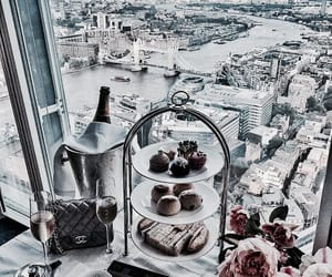 breakfast, champagne, and city image