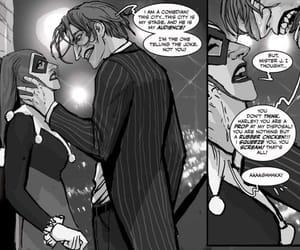 joker, abuse, and harley quinn image