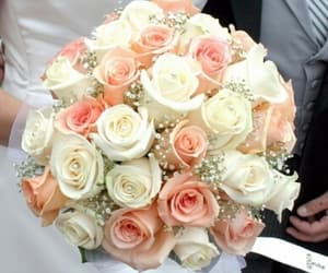 bouquet, white, and bride image