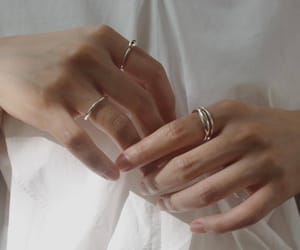 hands, aesthetic, and rings image