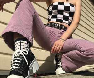 bandeau, tumblr, and bell bottoms image