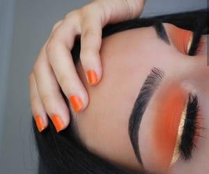 eyebrows, eyes, and nails image