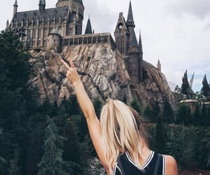 girl, castle, and harry potter image