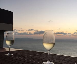 wine, drink, and sea image