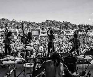 band, black and white, and black veil brides image