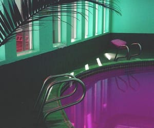 aesthetic, pool, and purple image