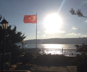 flag, istanbul, and sea image