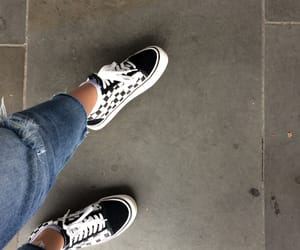 checkerboard, london, and vans image