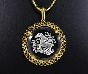 chain necklace, birthday gift, and glass pendant image