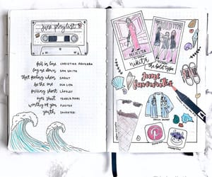 college, journaling, and playlist image