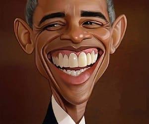 art, barack, and barack obama image