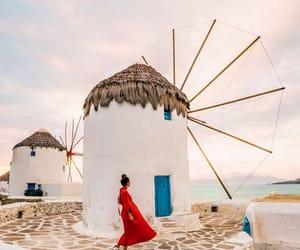 girl, Greece, and molens image