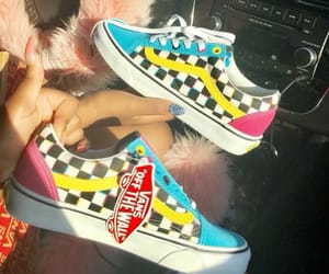 blue, pink, and vans image