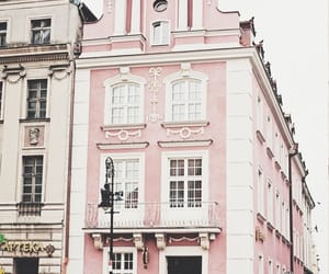 pink, building, and aesthetic image
