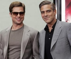 brad pitt, george clooney, and hollywood image