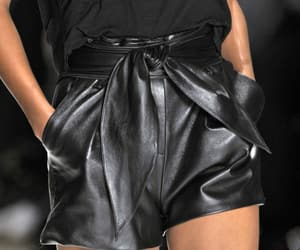 black, shorts, and leather image