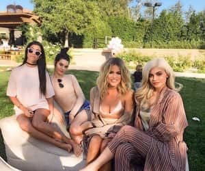 kendall jenner, kylie jenner, and kourtney kardashian image