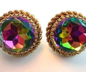 earrings, large, and vintage image