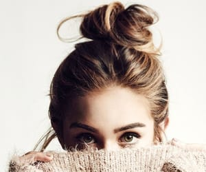 hair, playful, and messy bun image