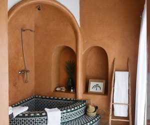 bathroom, boho, and home image
