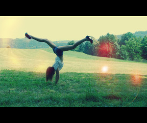 acrobatic, forest, and hair image