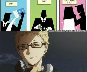 haikyuu, funny, and tsukishima kei image