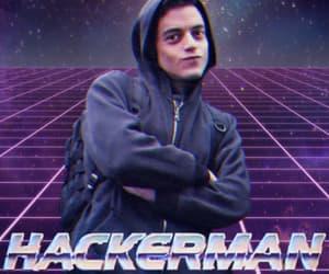 hackerman, rami malek, and meme image
