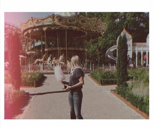 amusement park, carnival, and carousel image
