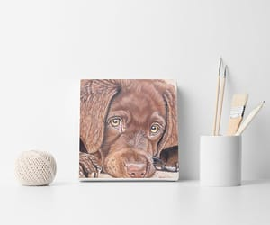 dogs, painting, and custom dog portrait image