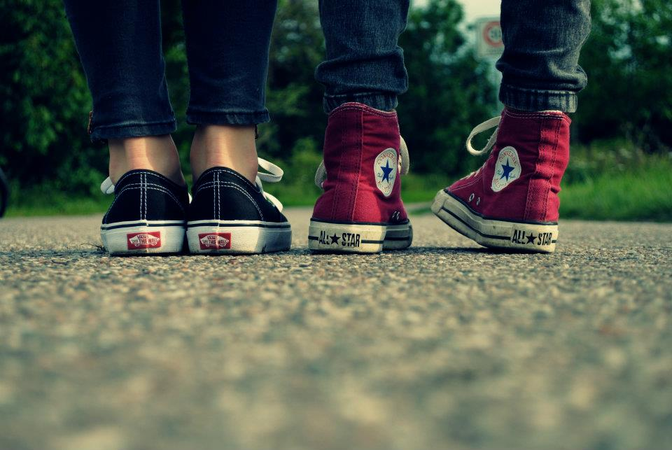 Image about love in sneakers by Juliana on We Heart It